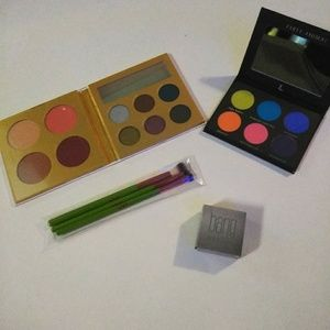 Eyeshadow palettes, liner, and brush bundle